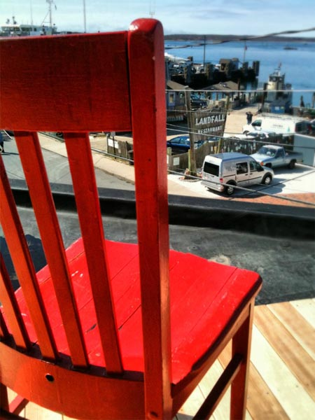 Red Chair at Cape Cod Inn at Woods Hole