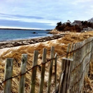 Beach between storms in Woods Hole, MA