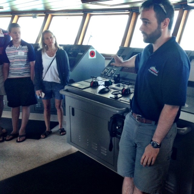 inside tour of research vessel in Woods Hole